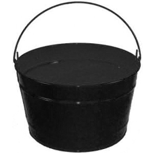 16 Qt Powder Coat Bucket - Glossy Black 006