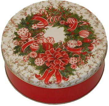 115 Red & White Wreath
