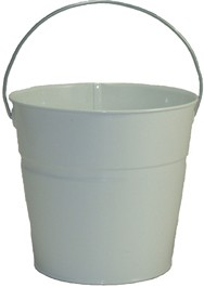 2 Qt Powder Coated Bucket-Glossy White - 005
