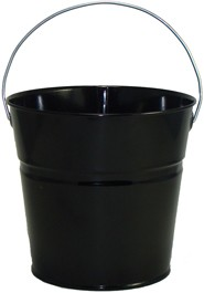 2 Qt Powder Coated Bucket-Glossy Black -006