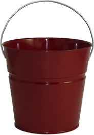 2 Qt Powder Coated Bucket-Burgundy Lustre - 016
