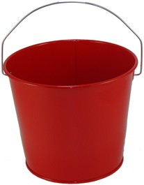 5 Qt Powder Coated Bucket - Candy Apple Red 003