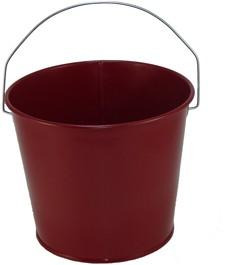 5 Qt Powder Coated Bucket - Burgundy Lustre - 016