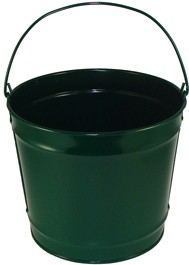 10 Qt Powder Coated Bucket - Hunter Green 004