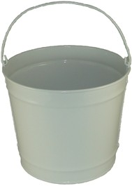 10 Qt Powder Coated Bucket - Glossy White 005