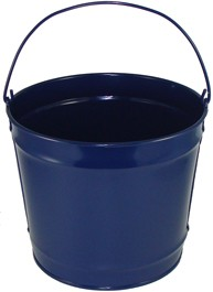 10 Qt Powder Coated Bucket - Navy Blue Lustre 308