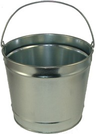 10 Qt Powder Coated Bucket - Plain Galvanized 315