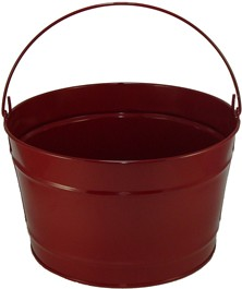 16 Qt Powder Coat Bucket - Burgundy Lustre 016