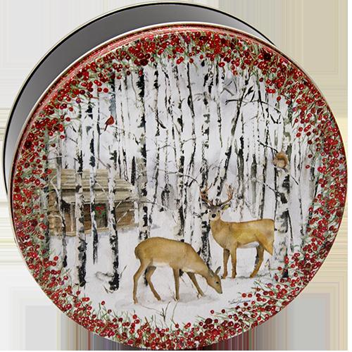 2C Deer & Birches