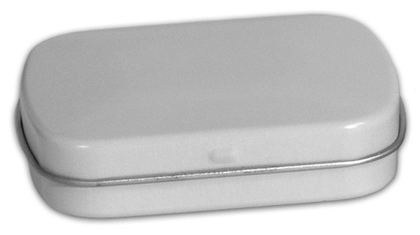 Sm Flat Hinged - White