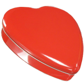 3HRT Red Heart Shaped Tin