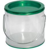 Pails w/Clear Side/Green