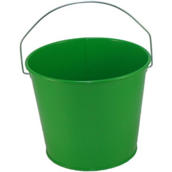 5 Qt Powder Coated Bucket Electric Green 317