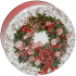 5C Red & White Wreath