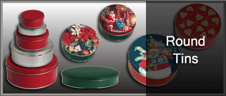 Round Cookie/Cake/Nut Tins