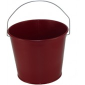 5 Qt Powder Coated Bucket - Burgundy Lustre - 016 - WHILE SUPPLY LASTS!