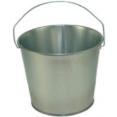 5 Qt Powder Coated Bucket - Plain Galvanized 315