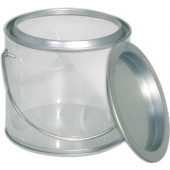 Pails w/Clear Side/Platinum