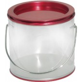 Pails w/Clear Side/Red