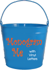 10 Qt. Monogrammed Bucket
