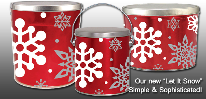 New Let It Snow Popcorn Cans