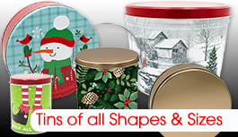 Tins and Cans of All Types, Shapes, and Sizes for every season (and solid colors, too).